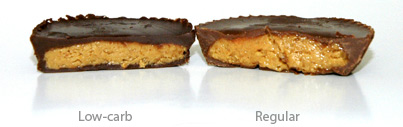 Regular Reese's vs. Low-carb Reese's
